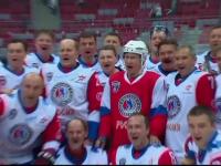 Vladimir Putin, invingator intr-un meci demonstrativ de hochei. Cine a mai facut parte din echipa sa