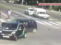 Accident grav intr-o intersectie din Timisoara, provocat de o soferita imprudenta. Ce nu a respectat femeia