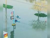 Inundatiile masive din provincia canadiana Quebec i-au inspirat pe locuitori sa gaseasca mijloace alternative de transport