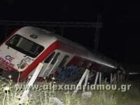 Scene de groaza in Grecia, unde un tren de pasageri a deraiat. Unii calatori au sarit pe geam ca sa scape cu viata