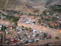 Fenomen bizar in una din cele mai aride zone ale Pamantului. Oras din desertul Atacama inundat dupa ploi violente