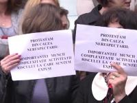 Angajatii din Finante din mai multe judete au protestat pentru a treia zi la rand. Reactia sefului ANAF