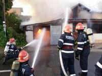 Panica in Chitila, dupa un incendiu izbucnit langa un depozit de butelii. Un barbat a suferit arsuri grave