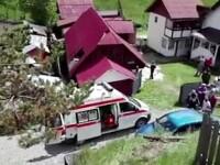 Un motociclist din Suceava a zburat prin acoperisul unei cladiri. Cum s-a putut petrece accidentul