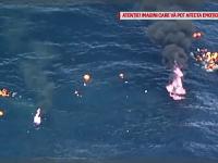 O barca plina cu migranti a luat foc in Mediterana. Ce s-a intamplat cu zecile de oameni care au ajuns in apa