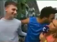 Tenisman francez, exclus de la Roland Garros dupa ce a sarutat o reportera cu forta. VIDEO