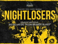 """Trupa Nightlosers sărbătorește 20 de ani de """"Plum brandy blues"""" printr-un concert pe 18 mai"""