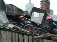 Explozie, urmată de un incendiu în Dâmbovița: un mort și un rănit