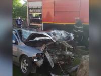 Doi copii în comă şi un al treilea cu traumatisme grave, în urma unui grav accident, la Măneciu, Prahova