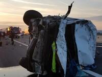 Un bărbat a murit pe autostrada Deva - Orăştie, după ce a adormit la volan. VIDEO
