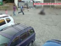 Om al străzii, bătut cu sălbăticie de doi bărbați pe străzile din Bacău. VIDEO
