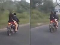 Motociclist bătut în trafic de o femeie. Imaginile postate pe rețelele de socializare