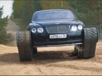 Rușii au transformat un Bentley într-un tanc. VIDEO viral