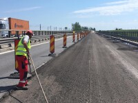 Trafic deviat pe autostrada Bucureşti-Constanţa. Se execută lucrări de reparație