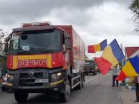 VIDEO. Cum au fost primite camioanele românești cu ajutoare medicale în Republica Moldova