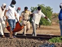 Caz tragic în India. 16 oameni au fost striviți de tren, după ce s-au culcat pe calea ferată
