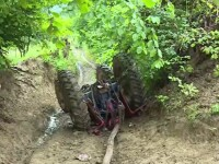 Accident cumplit în Harghita. Un tânăr a murit strivit de propriul tractor