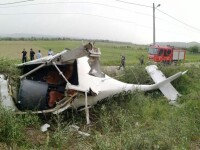 Un avion de mici dimensiuni a aterizat forțat în Alba. GALERIE FOTO