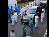 Gest fără precedent la un spital. Medicii s-au întors cu spatele la prim-ministru. VIDEO