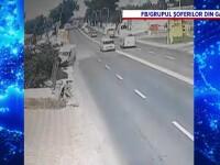 Pericol de explozie în Galați. O conductă de gaz metan, spartă în urma unui accident rutier