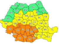 Alertă ANM: Cod portocaliu de ploi abundente şi furtuni în 15 județe