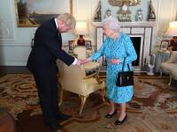 """Boris Johnson a găsit """"sală de sport"""". Regina l-a primit în grădinile palatului Buckingham"""