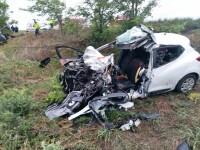 Accident grav pe DN24, vineri dimineață. Doi părinți și bebelușul lor au murit