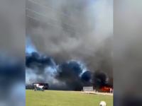 """Un incendiu puternic s-a declanşat la un adăpost de animale din județul Suceava: """"Doar 4 porci au fost salvați"""""""