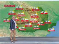 Vreme instabilă și răcoroasă, cu ploi puternice și grindină în mare parte a țării