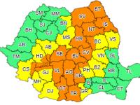 ANM a emis un nou cod portocaliu de ploi abundente în jumătate din țară. Cât timp este valabil