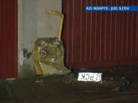 O masina iesita de pe carosabil a retezat o teava de gaze, apoi a luat foc