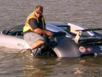 Bugatti Veyron la apa! Costa 2 milioane, dar nu pluteste! VEZI VIDEO!