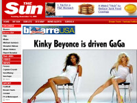 Beyonce si Lady GaGa, tinute identice in