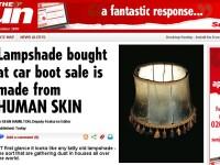 Descoperire macabra! Lampa din piele umana, de pe vremea lui Hitler! FOTO