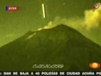 VIDEO. OZN filmat prin Live Cam in timp ce intra intr-un vulcan din Mexic