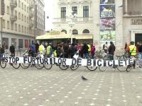 Bikerii din Vestul tarii au protestat la Timisoara impotriva furtului de biciclete. GALERIE FOTO
