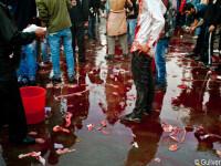 Ashura, sarbatoarea cu ritualuri barbare, oameni mutilati si strazi inecate in sange. GALERIE FOTO