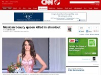 Regina a frumusetii din Mexic, gasita impuscata. Lupta cu armata, alaturi de traficanti de droguri