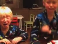 Reactia violenta a copiilor cand au aflat ca parintii le-au mancat bomboanele de Halloween