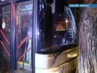 Autobuz cu calatori implicat intr-un accident, in Brasov, dupa ce soferul a facut infarct la volan