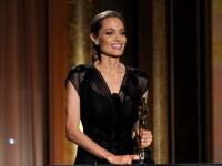 Angelina Jolie a izbucnit in lacrimi pe scena. A fost premiata cu Oscar onorific