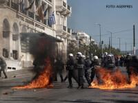 Proteste in toata Grecia impotriva guvernarii Syriza. Politia a ripostat cu gaze si grenade