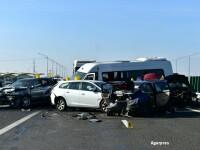 Unsprezece soferi, suspecti in cazul accidentului de pe A2. Toti ar fi depasit viteza regulamentara