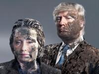 Trump si Clinton, plini de noroi pe coperta Der Spiegel. Scandalurile si atacurile la persoana in care au fost implicati