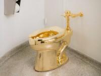 Cozi de doua ore la toaleta Muzeului Guggenheim din New York. Vasul de WC din aur masiv, intitulat