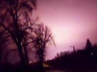 Fenomen bizar petrecut in Moreni: ce a aparut pe cer, in toiul noptii. Un tanar a filmat totul cu telefonul mobil