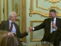 Iohannis a făcut o glumă cu laureatul premiului Nobel la fizică în 2018, ca între profesori. Reacţia savantului