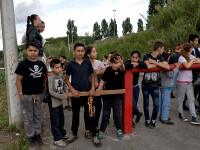 Poliția italiană a evacuat o tabără de migranți, ridicată într-o parcare, în Roma