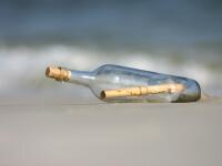 """Mesajul """"misterios"""" găsit într-o sticlă pe o insulă izolată. Cine l-a trimis"""