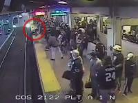 Clipe de groază la metrou. Un bărbat căzut pe șine a fost salvat în ultima clipă